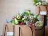 Adornos florales para bodas: bolsas
