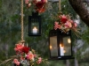 Adornos florales para bodas: candelabros