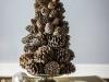 Adornos Navidad Piñas: centro de mesa árbol