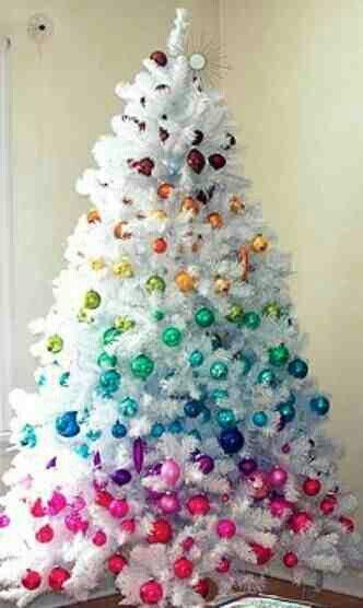 Rbol de navidad blanco c mo decorarlo para que sea - Arboles de navidad blanco ...