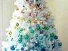 Árbol de Navidad blanco: adornos arco iris