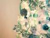 Árbol de Navidad blanco: adornos azules y verdes