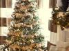 Árbol de Navidad ideas originales: dorado y blanco