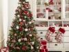 Árbol de Navidad ideas originales: rojo y blanco