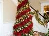 Árbol de Navidad ideas originales: rojo y dorado