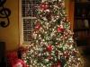 Árbol de Navidad ideas originales: rojo con luces