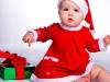 Bebés en Navidad: Vestido de mamá noel