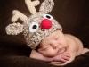 Bebés en Navidad: Con gorrito