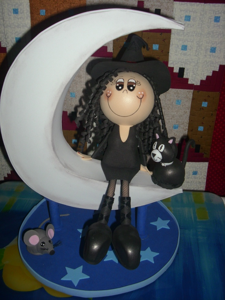 b036ceefe22 Brujas de goma eva  Fofuchas de Halloween paso a paso  FOTOS y VÍDEO ...