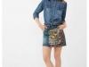 Camisa Vaquera: Desigual falda estampada