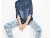 Camisa Vaquera: Desigual con pantalón estampado
