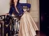 Camisa Vaquera: look con falda midi
