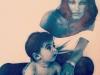 Cayetano Rivera biografía: con su madre Carmen Ordoñez