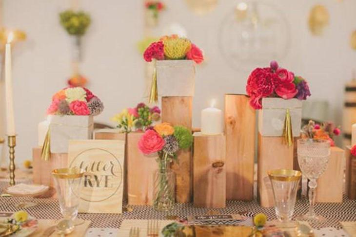 Centros de mesa para bodas baratos y elegantes fotos for Adornos jardin baratos