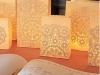 Centros de mesa para bodas con velas en bolsas de papel