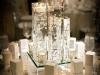 Centros de mesa para bodas jarrones con agua y velas