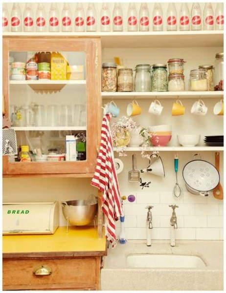 C mo decorar una cocina vintage trucos y consejos fotos for Alacenas de cocina vintage