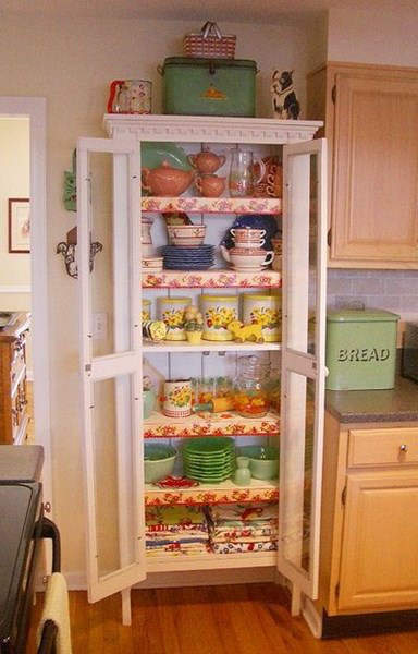 C mo decorar una cocina vintage trucos y consejos fotos mujeralia - Alacenas vintage ...