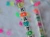Cómo hacer bolsas de cumpleaños para niños: modelo barra con nombre