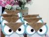 Cómo hacer bolsas de cumpleaños para niños: modelo búhos