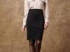 Cómo ir vestida a una entrevista de trabajo: falda tubo con camisa
