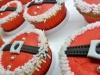 Cupcakes de Navidad: Traje de Papá Noel