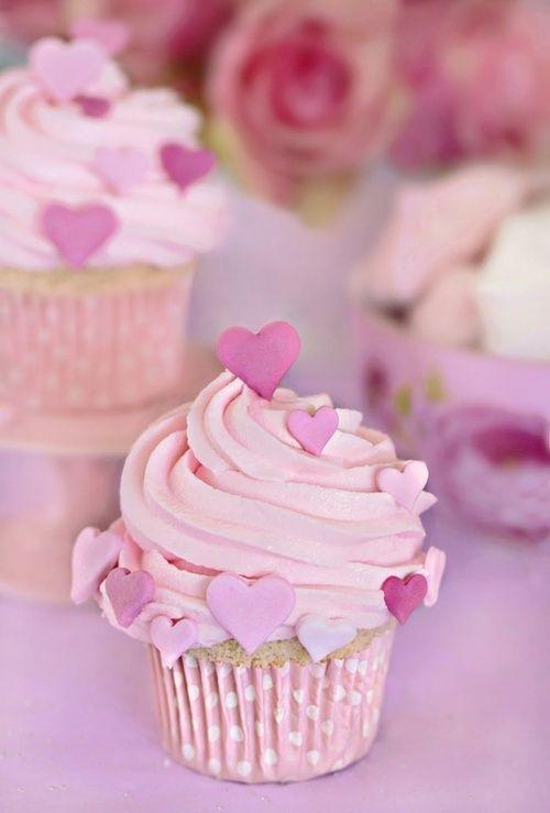 Cupcakes San Valentín: En rosa chicle