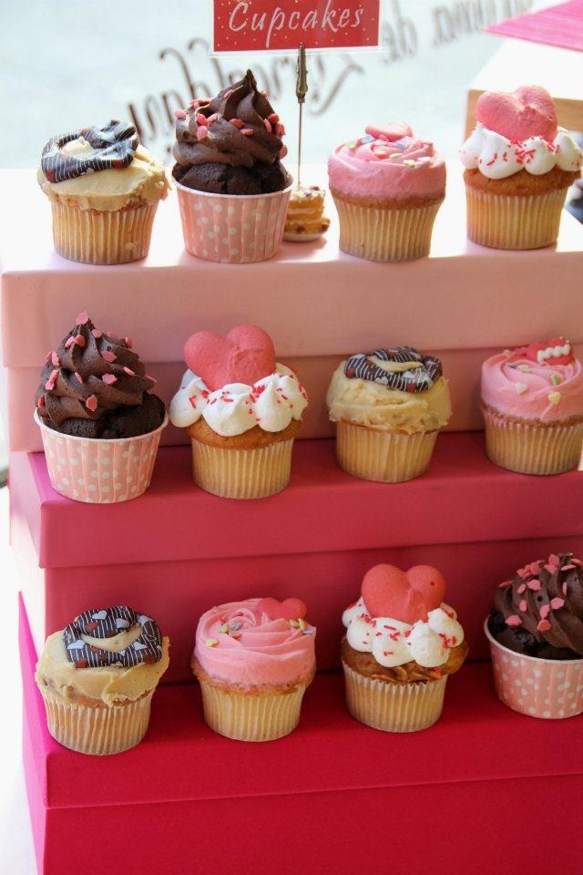 Cupcakes San Valentín: Varios diseños