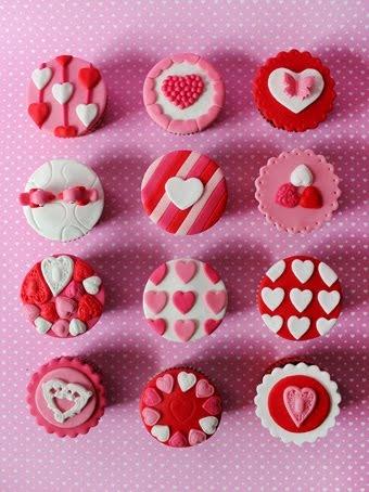 Cupcakes San Valentín: Muchos diseños