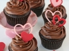 Cupcakes San Valentín: Con corazones