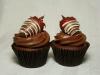 Cupcakes San Valentín: Chocolate y fresa
