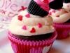 Cupcakes San Valentín: Tonos rosas