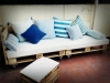 Decoración con palets de madera para jardín: Palets de Lujo chaise longue