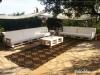 Decoración con palets de madera para jardín: Palets de Lujo sillones largos