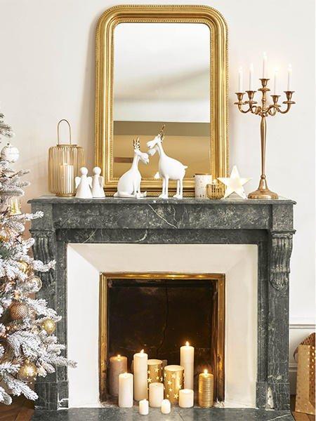 Decoracin de chimeneas en Navidad ilumina tu hogar FOTOS Mujeralia