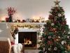 Decoración de chimeneas en Navidad: El Corte Inglés rojo