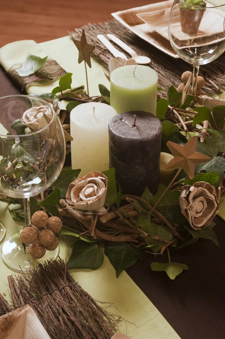Decoraci n de la mesa en navidad ideas originales y - Mesas de navidad originales ...