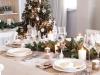 Decoración de la mesa en Navidad al estilo nórdico: elementos naturales