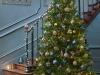 Decoración de Navidad 2016 tendencias chic: azul y dorado árbol