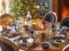 Decoración de Navidad 2016 tendencias chic: azul y dorado mesa