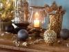 Decoración de Navidad 2016 tendencias chic: azul y dorado velas