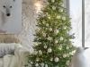 Decoración de Navidad 2016 tendencias chic: blanco árbol