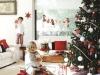 Decoración de Navidad chic: árbol rojo