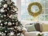 Decoración de Navidad chic: árbol y ventana