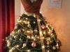 Decoración de Navidad chic: árbol con forma de vestido