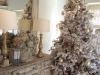 Decoración de Navidad chic: árbol vintage