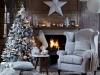 Decoración de Navidad chic: salón