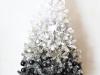 Decoración de Navidad en blanco y negro: árbol degradé