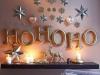 Decoración de Navidad en rosa: adorno en la pared