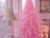 Decoración de Navidad en rosa: árbol rosa